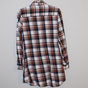 JACHS Girlfriend Dresses - Jachs Girlfriend Eda Flannel Shirt Dress
